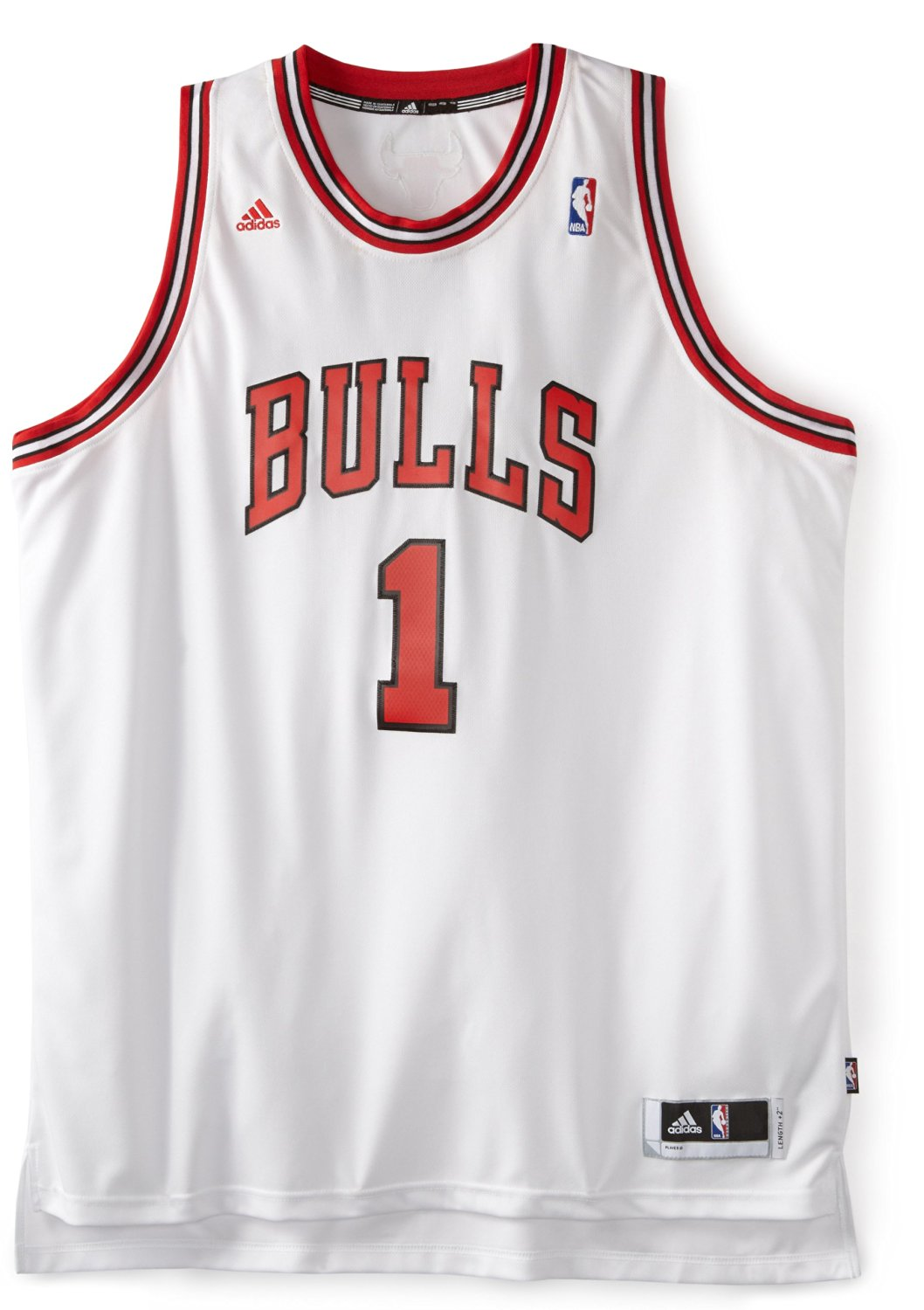 49e22000 NBA Chicago Bulls Derrick Rose Revolution 30 Home Swingman Jersey H Size