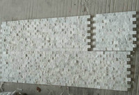 Natural Surface No Joint Strip Wood Gray Marble Mosaic Tile