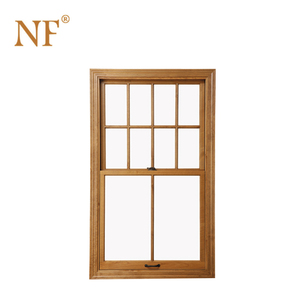Single hung american style window with grill design