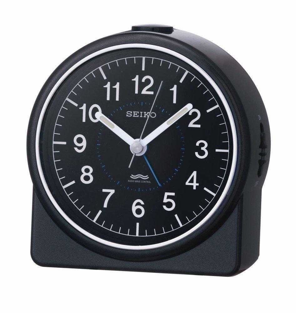SEIKO CLOCK ( Seiko clock ) colorful analog radio alarm clock ( black ) KR324K KR324K
