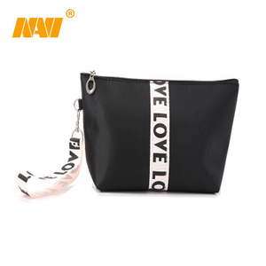 low price beauty promotional nylon cosmetic brush bag makeup bag