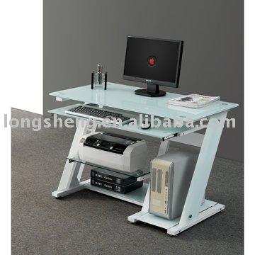 Computertisch glas  Modernen Weißen Hochglanz Glas Computer Tisch - Buy Product on ...