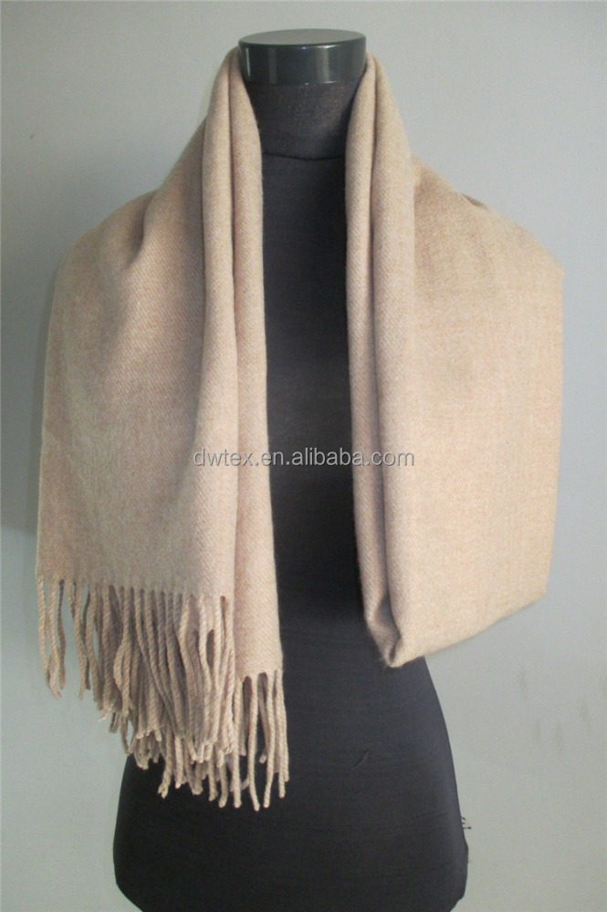 XF16122708 Solid color warm jacquard wrap