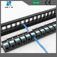 rj45 to rj45 patch panel 1u height empty patch panel, 19 inch patch panel ethernet