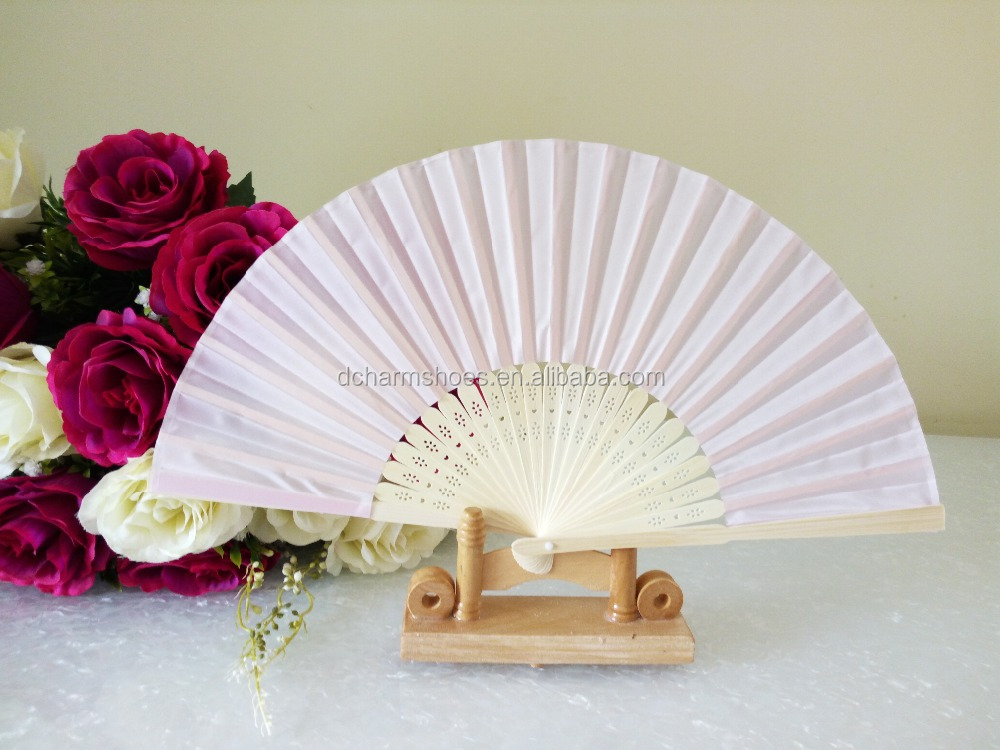 blank bamboo Custom souvenir gift wedding invitation printed paper folding hand fans for dance