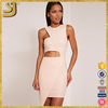 Nude asymmetric bodycon women clothing sexy dress