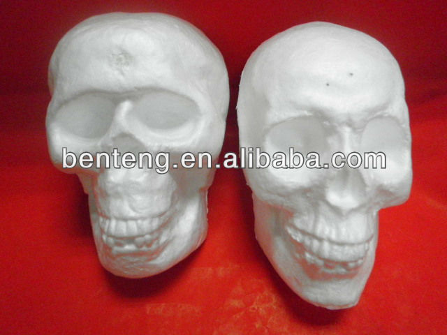 2013 promotional wholesale foam glitter halloween skull lantern