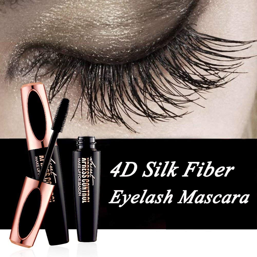 fde71290658 Get Quotations · Silk Fiber 4D Mascara Waterproof 4D Silk Mascara Eyelash  Mascara Long Lash Free Clump, Warm