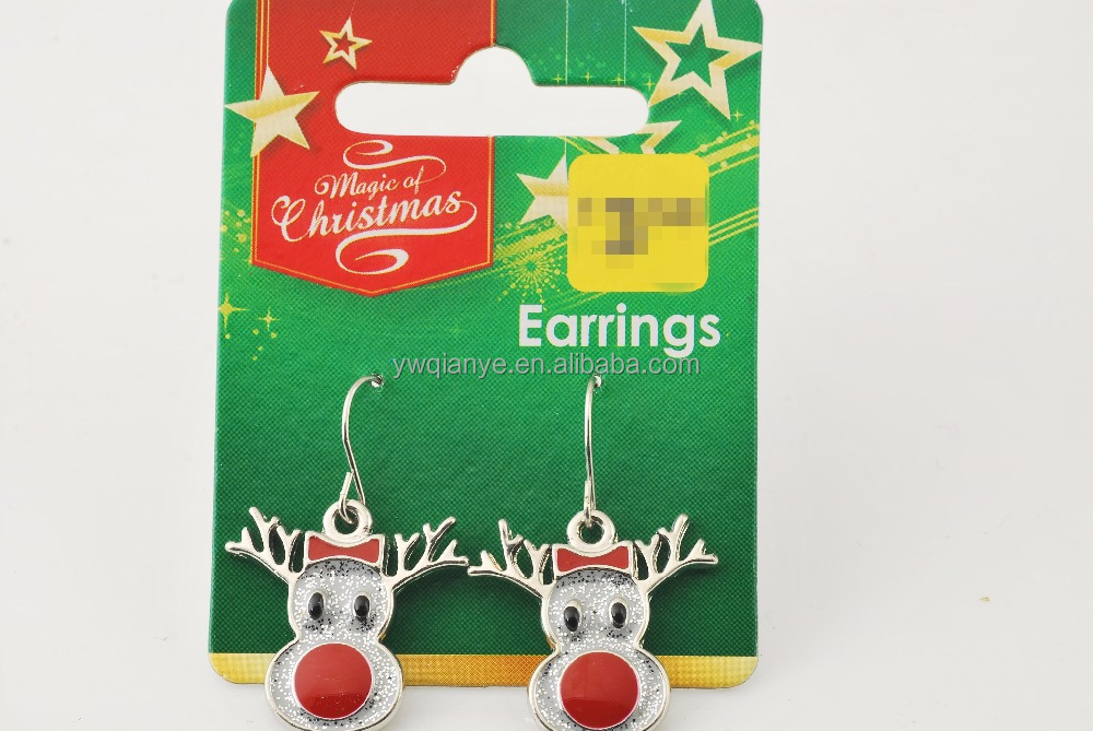 Differnt kinds of Christmas Day small bell stud earring