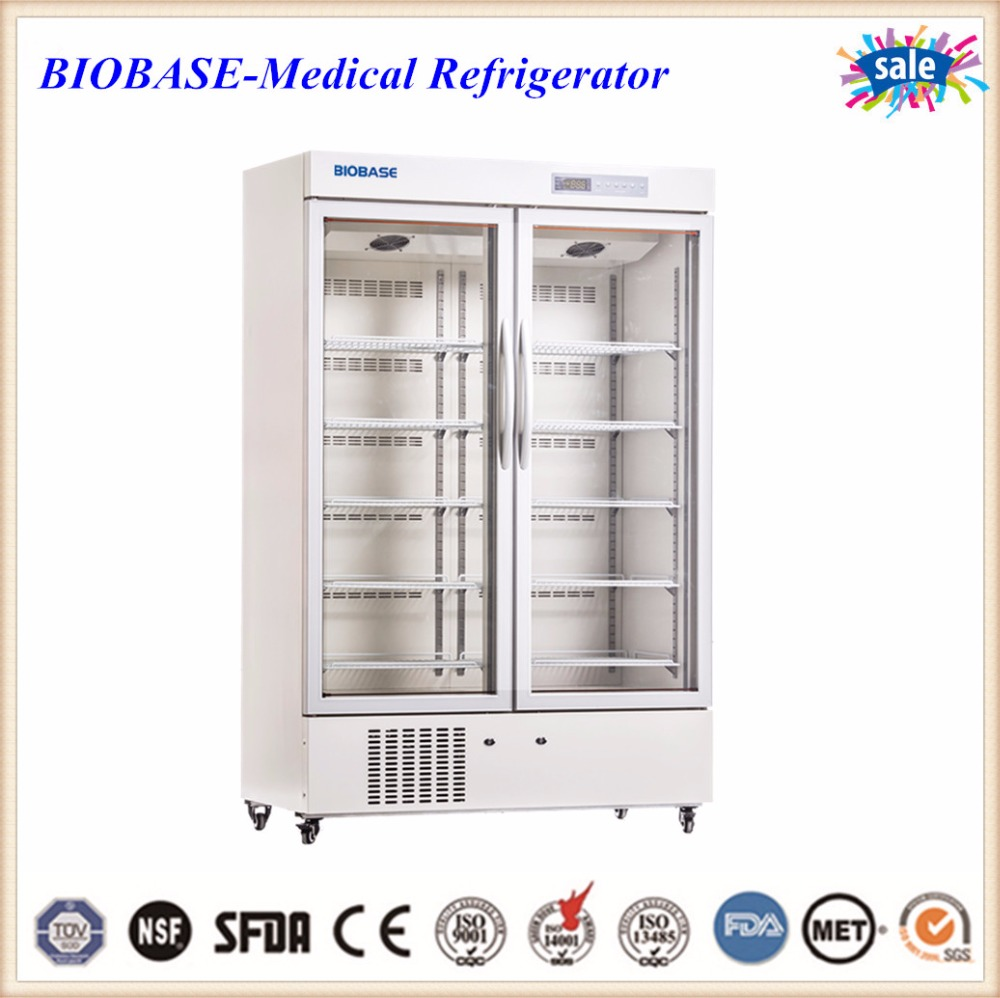 BIOBASE double door medical medicines medical vaccine refrigerator freezer china manufaturer price