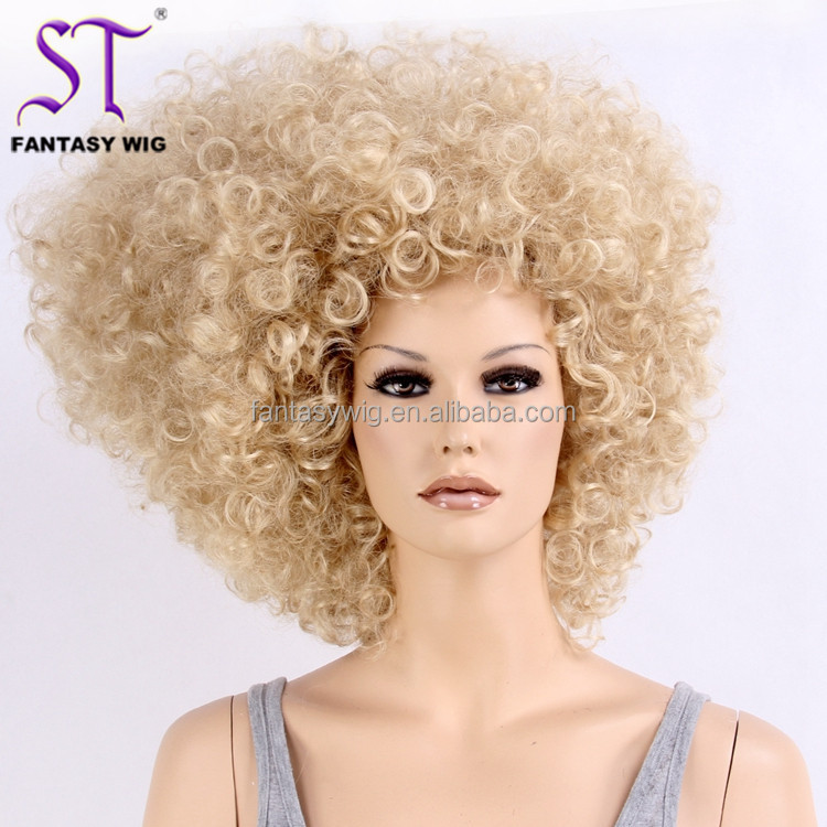 Fantasywig Latest Products Large Blonde Japanese Synthetic Hair African American Afro Wigs