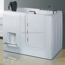 Walk in tub shower combo with seat bathtub for disabled people