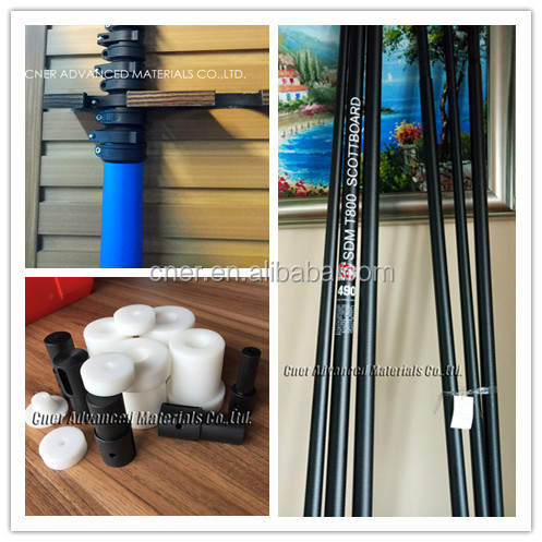 CNER carbon fiber mast 4.3 meters with end cap