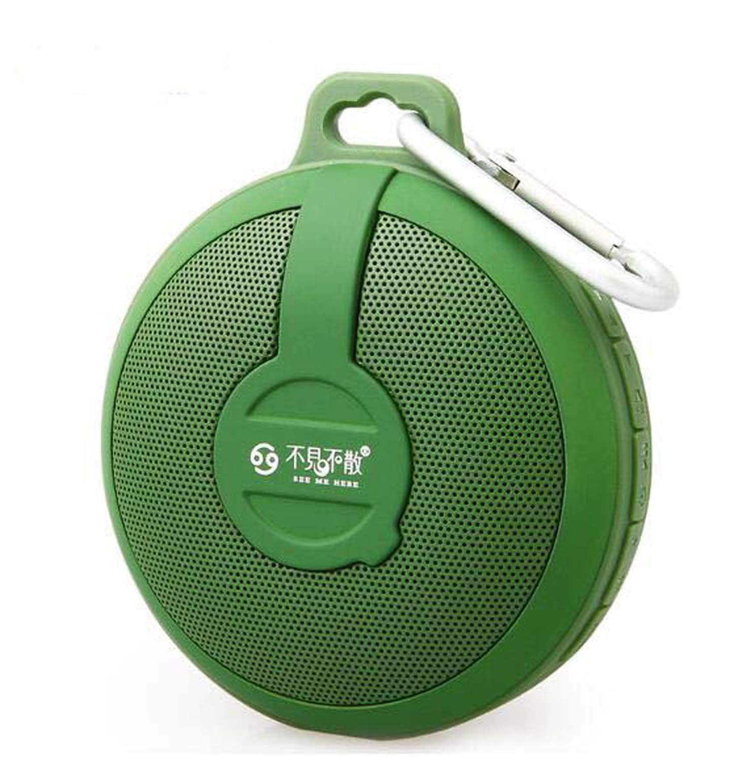 Hzhy Bluetooth Speaker Wireless Outdoor Card Bluetooth Speaker Mini Portable Stereo Subwoofer (Red, Green, Dark Blue, Lakeside Blue) (Color : Green)