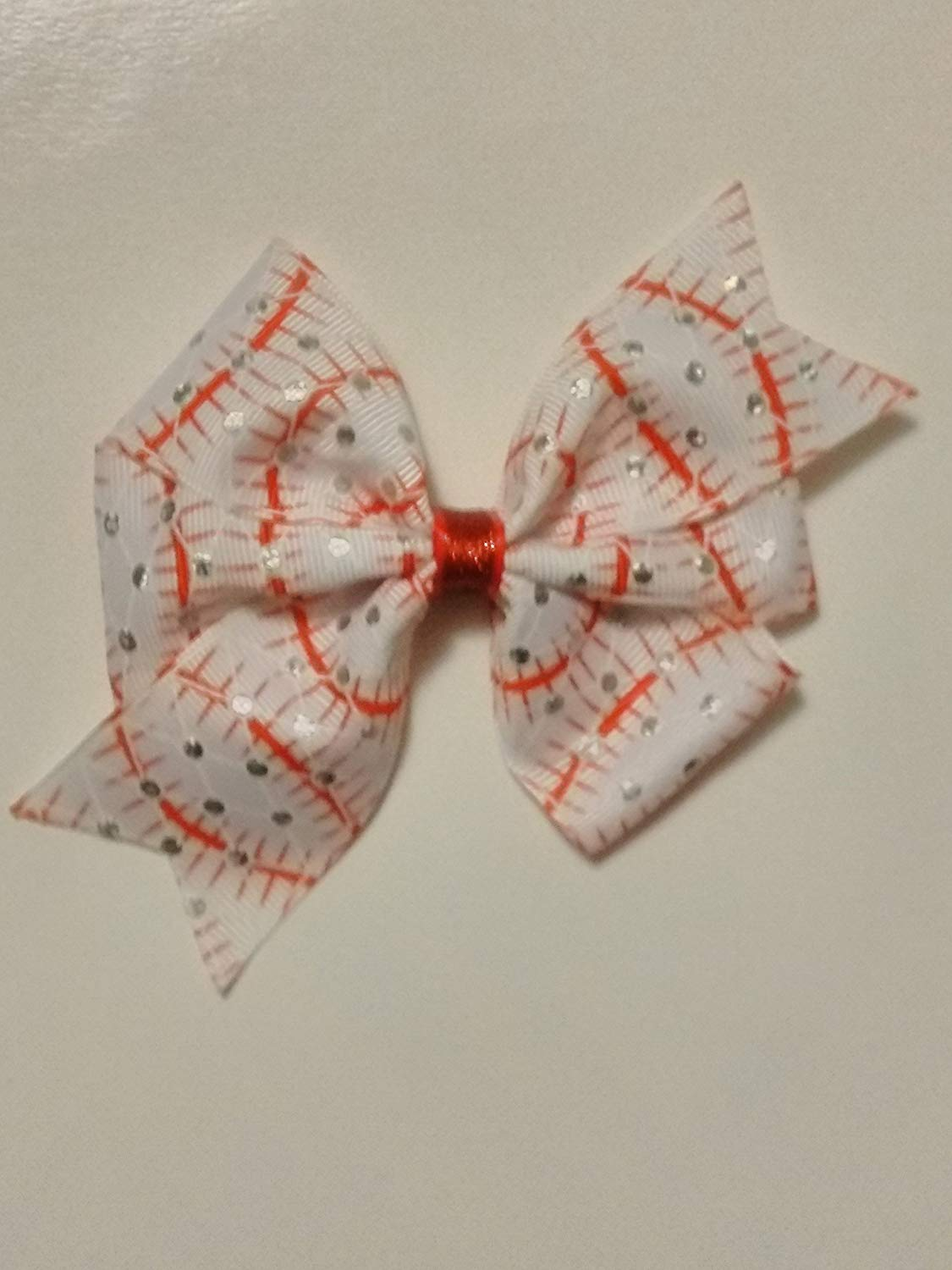 1d1d63f1b60bc Get Quotations · Baseball inspired hair bow