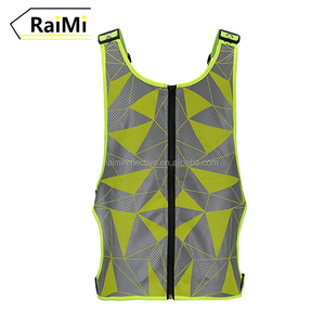 Customized Colour High visibility Safety Reflective Running Vest