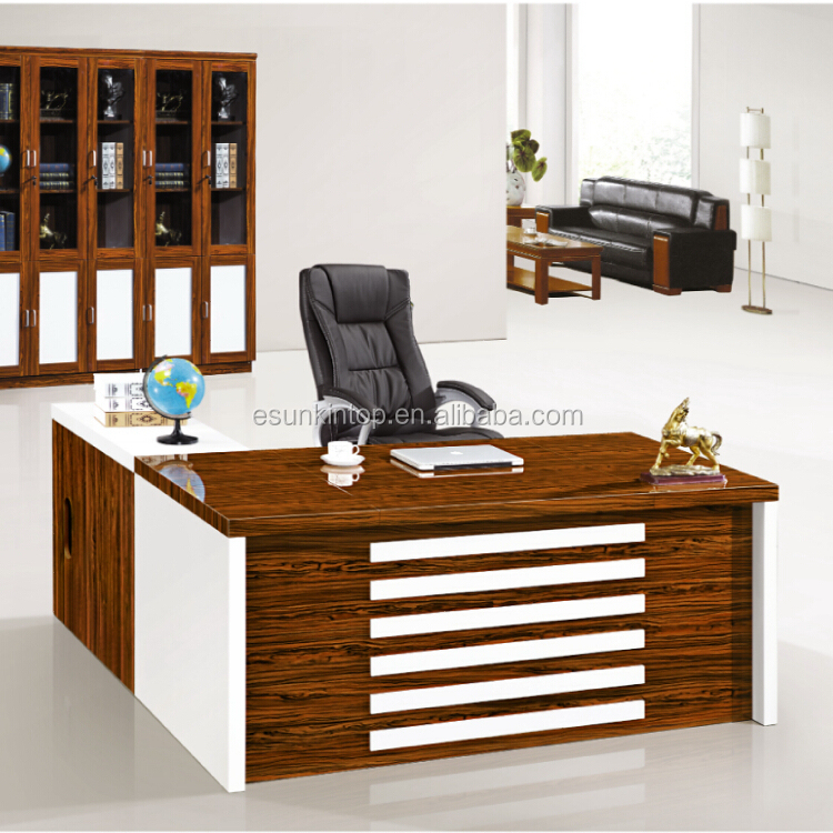 Executive modern secretary office desk side table buy for Table bureau design