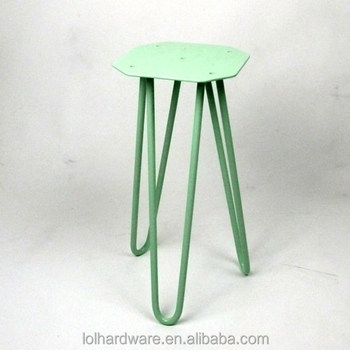 Hairpin Legs Tripod Base For Industrial Stool Chair