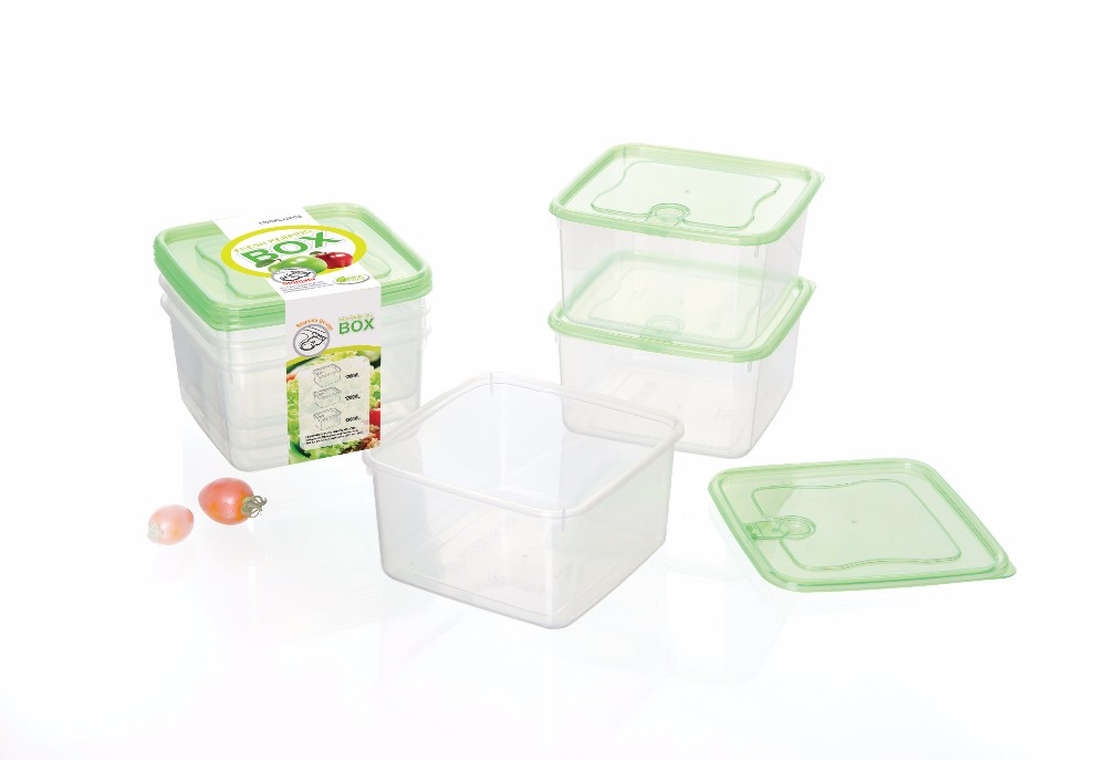 Watertight Bpa Free Plastic Cracker Storage Container With Lid