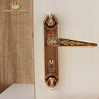 Wholesale China new designs modern internal door handles on plate