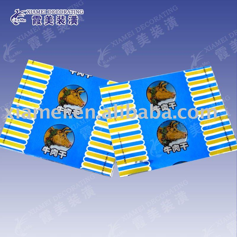 meat particle wrapped packing opaque metalized pvc film roll