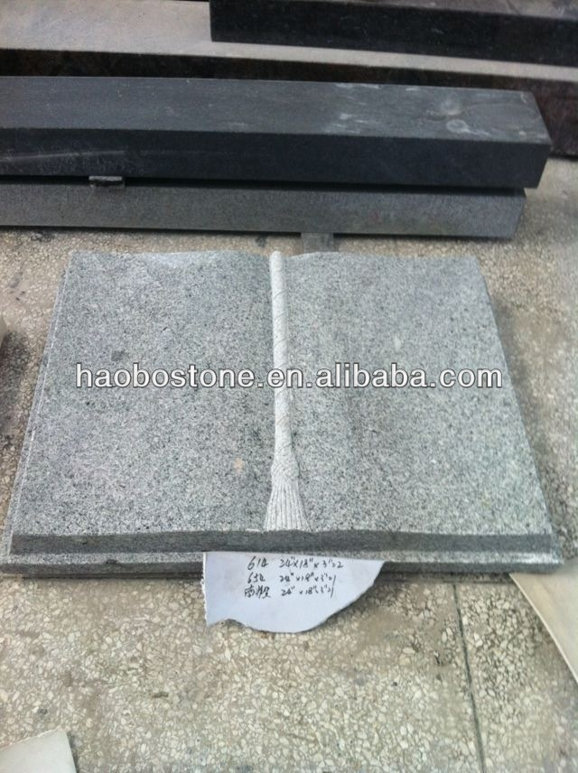 China Grey Granite Book Style Headstone For Sale