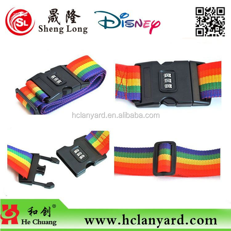 5cm dye sublimation adjustable luggage belt