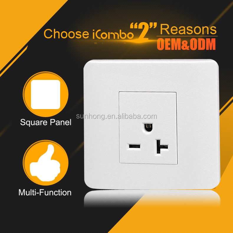 Remote Control Power Outlet Recessed Type Male And Female Wall ...