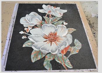 Schwarze Blume Wand Mosaikfliese Handwerk Wohnzimmerwand