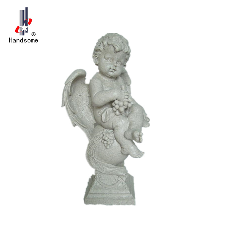 Religious Decorative Figurine Sculpture Resin Cherub Angel