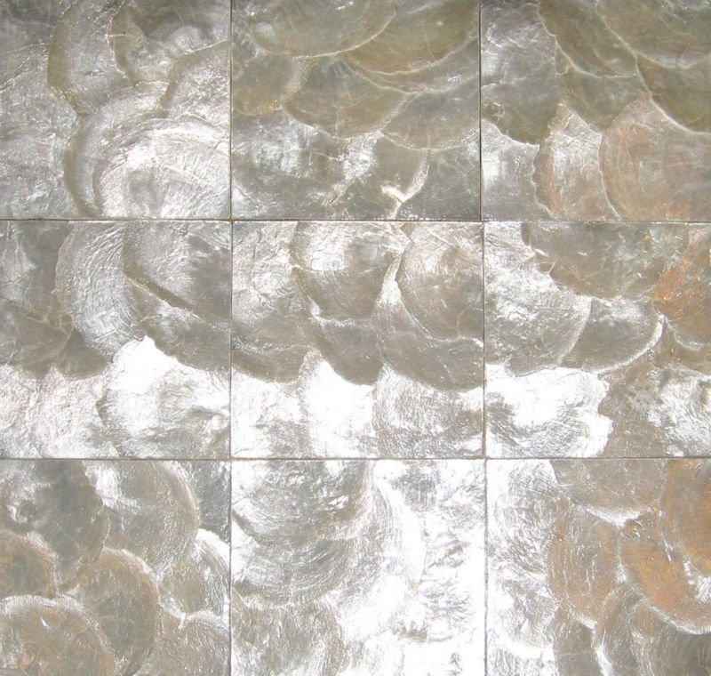 Silver Capiz Mother Of Pearl Wall Tile