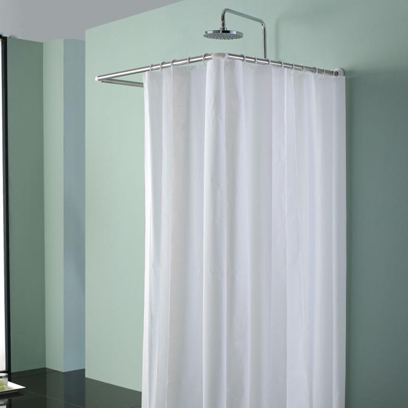 High quality stainless steel corner U shape shower curtain rod/rail