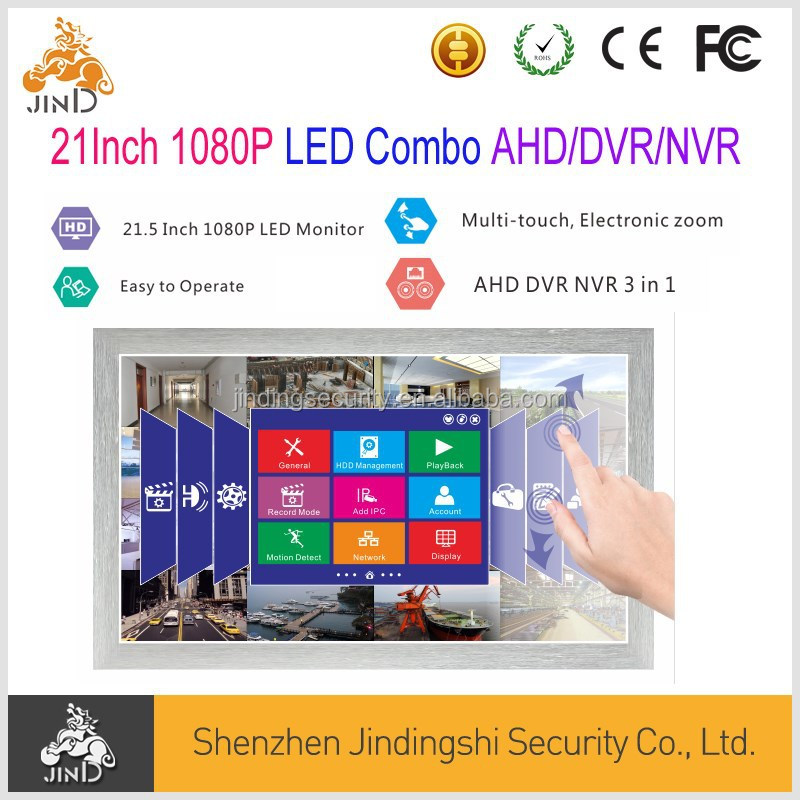 21.5Inch LED Combo <strong>DVR</strong>/HVR/AHD <strong>DVR</strong> with Multi Touch Control