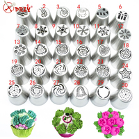 hot selling russian icing piping nozzles tips cake decorating Christmas tree Baking Pastry Tools