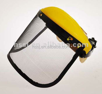 2016 new design construction helmet face shield CE approved wire mesh face shield helmet with wire mesh face shield supplier