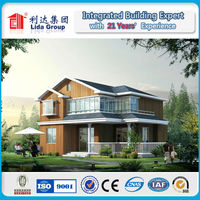 Cheap or luxury light steel structure prefabricated villa house