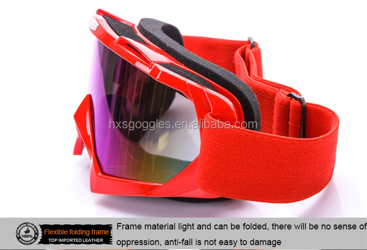 Guangzhou Manufacturer Custom TPU Frame Colorful Lens MX Motorcycle Goggles