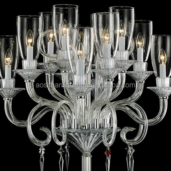 Baccarat Style Crystal Chandelier Floor Lamp