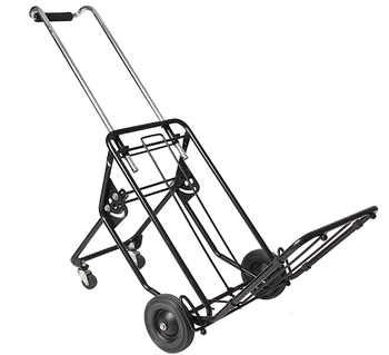 ee4dad3f7b91 Hand Truck 2 Wheel Dolly And 4 Wheel Trolley Cart/metal Luggage  Cart/portable Folding 4-wheel Solid Construction Utility Cart - Buy Hand  Truck 2 Wheel ...