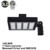 Arm mount/pole mount/Extruded LED parking lot light replace shoebox ETL DLC LED shoebox light 100w 150w 200w
