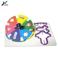 Snack food promotion cards custom 3d plastic puzzle