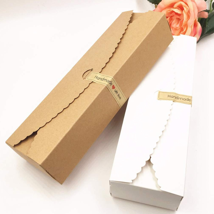 Kraft Gift Boxes Paper Handmade Candy Chocolate Packing Box Blank Storage Paper Box