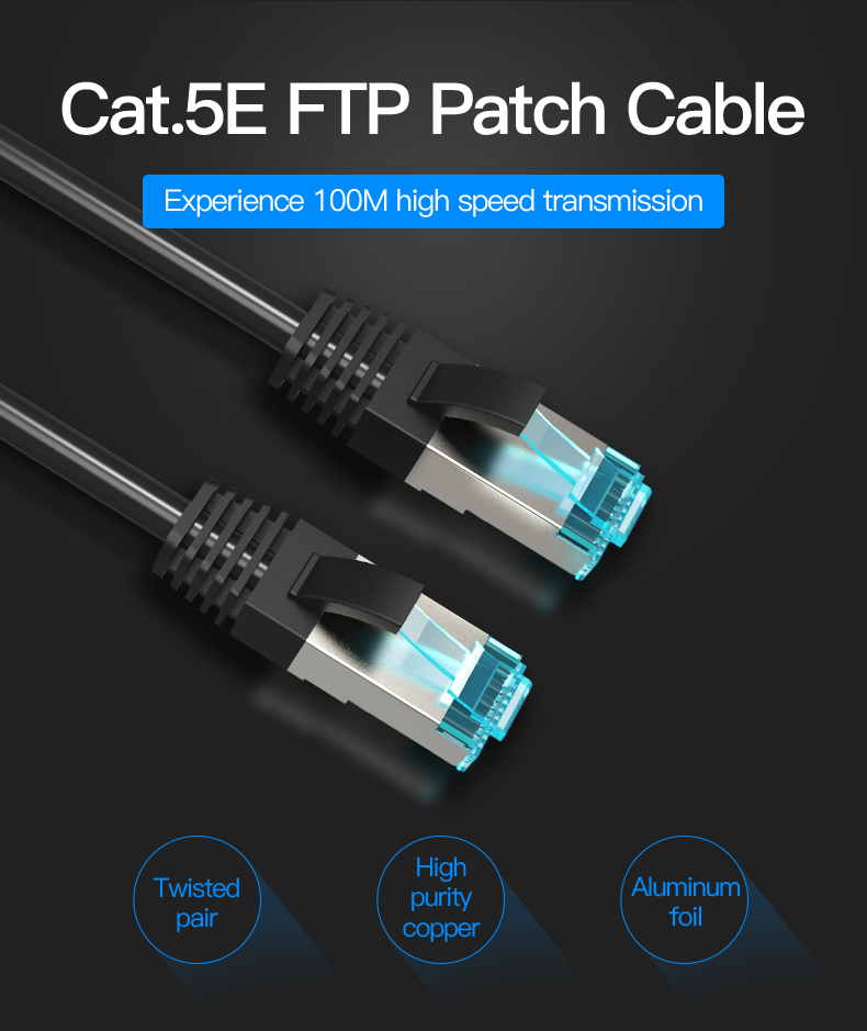 Glory 15m CAT5E Network Cable Cord Wire Line FTP RJ45 LAN