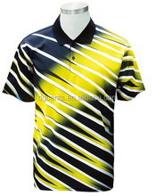 Adult Men's short sleeve sports Polo shirt with digital printing made in China