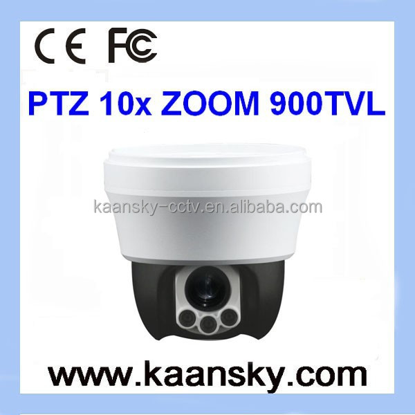 Analog camera high speed zoom camera PTZ 10x long ir distance