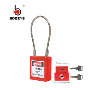 Stainless Steel Wire Shackle PA body Safety Padlock, key alike industrial lock (BD-G41)