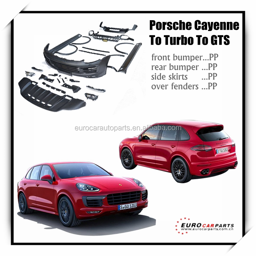 New arrival !!! PP material body kit for Posch cayenne to turbo to gts pp body kit full set 2014y ~