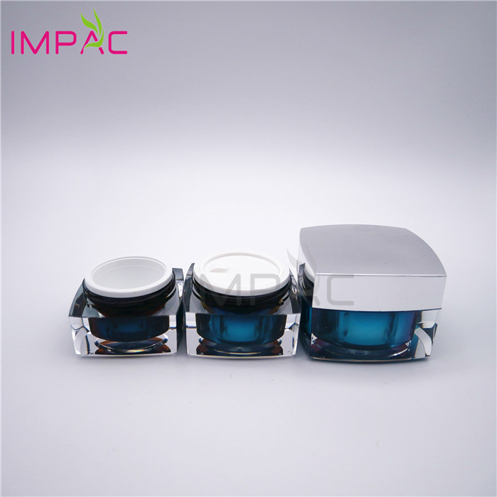 Facial Care Packaging Girls Square Airless luxury Cosmetic Jar Set with Bottles