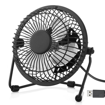 For Office Home School and Camping Portable Quiet and Cooling Metal Desk Fan