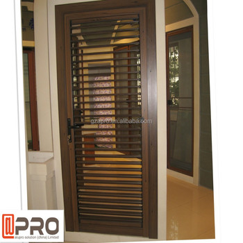 Power Coating Wood Exterior Door Shutter Designs - Buy Door ...